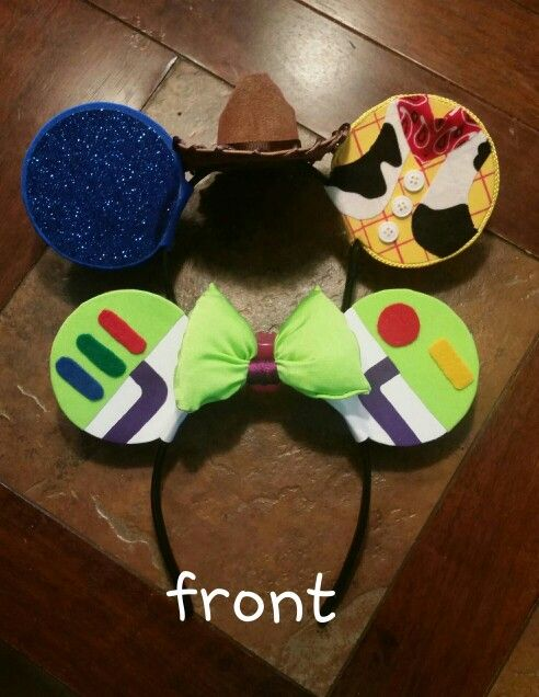 b5eee78caeb0d Toy Story Buzz and Woody Mickey ears for our Disneyland Run.