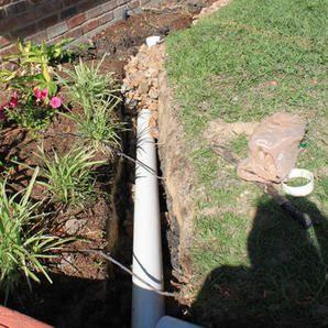 french drain solve landscape