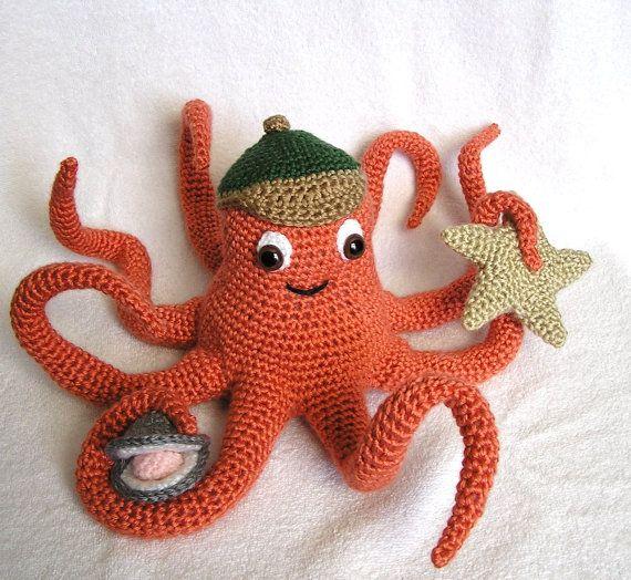 PDF Crochet Pattern OLLIE OCTOPUS | Pulpos, Ganchillo y Tejido