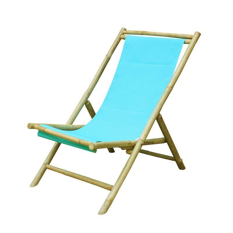 Atalya Reclining Folding Bamboo Relax Sling Beach Chair Folding Beach Chair Beach Chairs Sling Chair