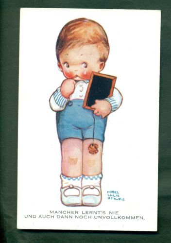 MABEL LUCIE ATTWELL,2518,BOY CRYING .vintage postcard