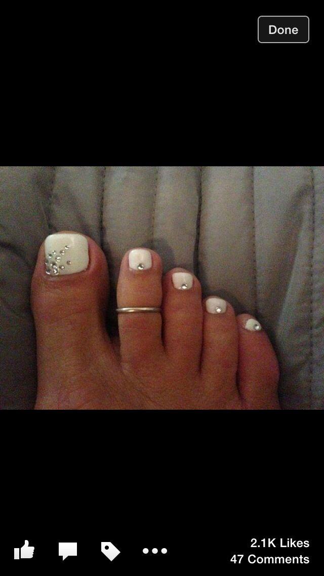 Diamond Toenails Nails In 2018 Pinterest Manicure
