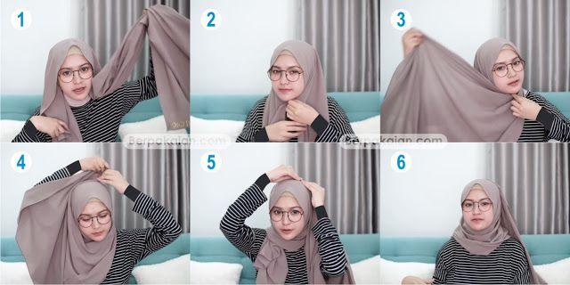 Style Pertama Tutorial Hijab Pashmina untuk Wanita ...