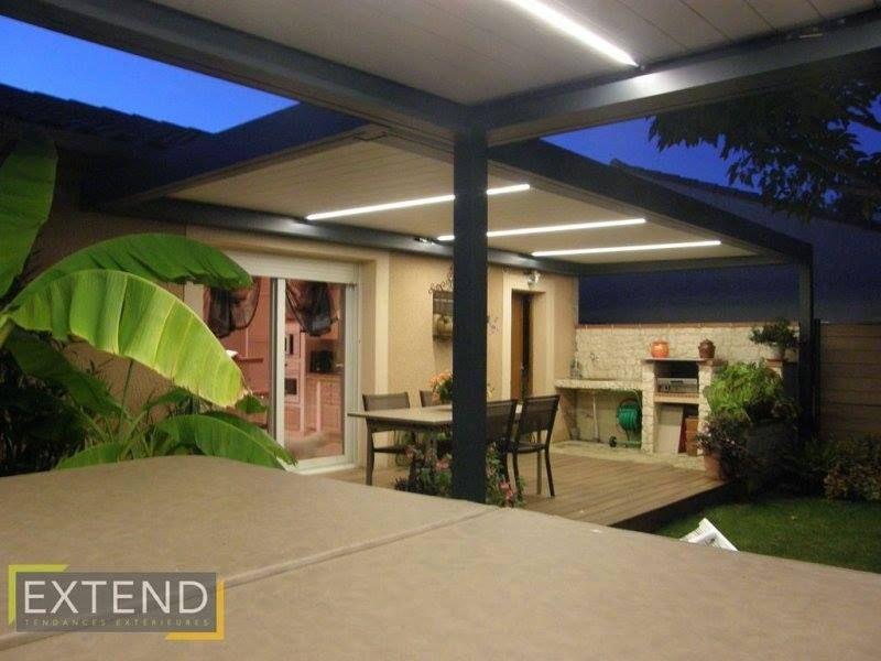 Pergola bioclimatique avec SPA et terrasse couverte #extend #pergola ...