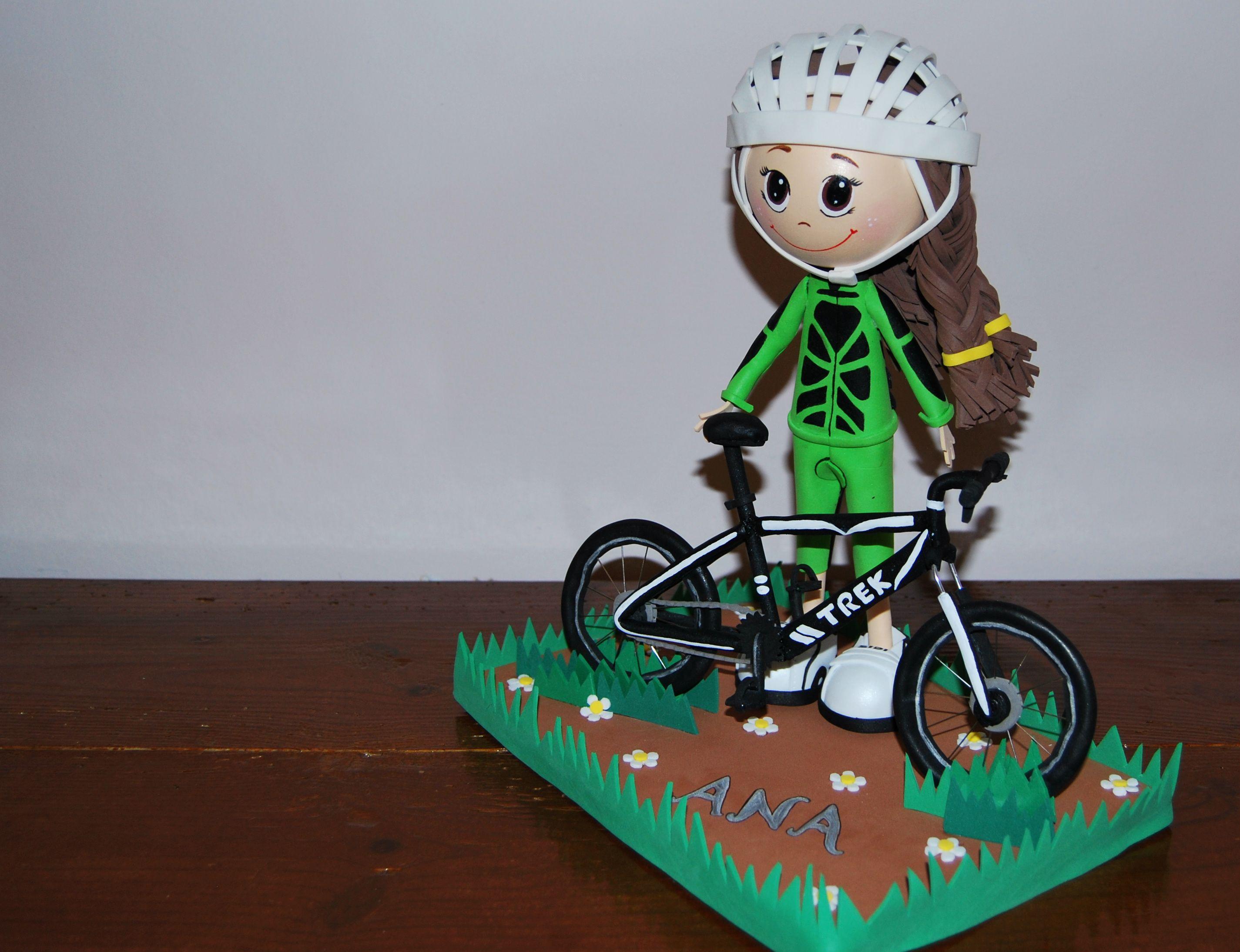 Fofucha ciclista personalizada en goma eva del equipo btt - Cosas de goma eva ...