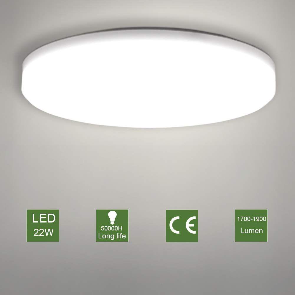 Led Ceiling Lamp Oowolf Modern 22w Led Ceiling Light Fixture