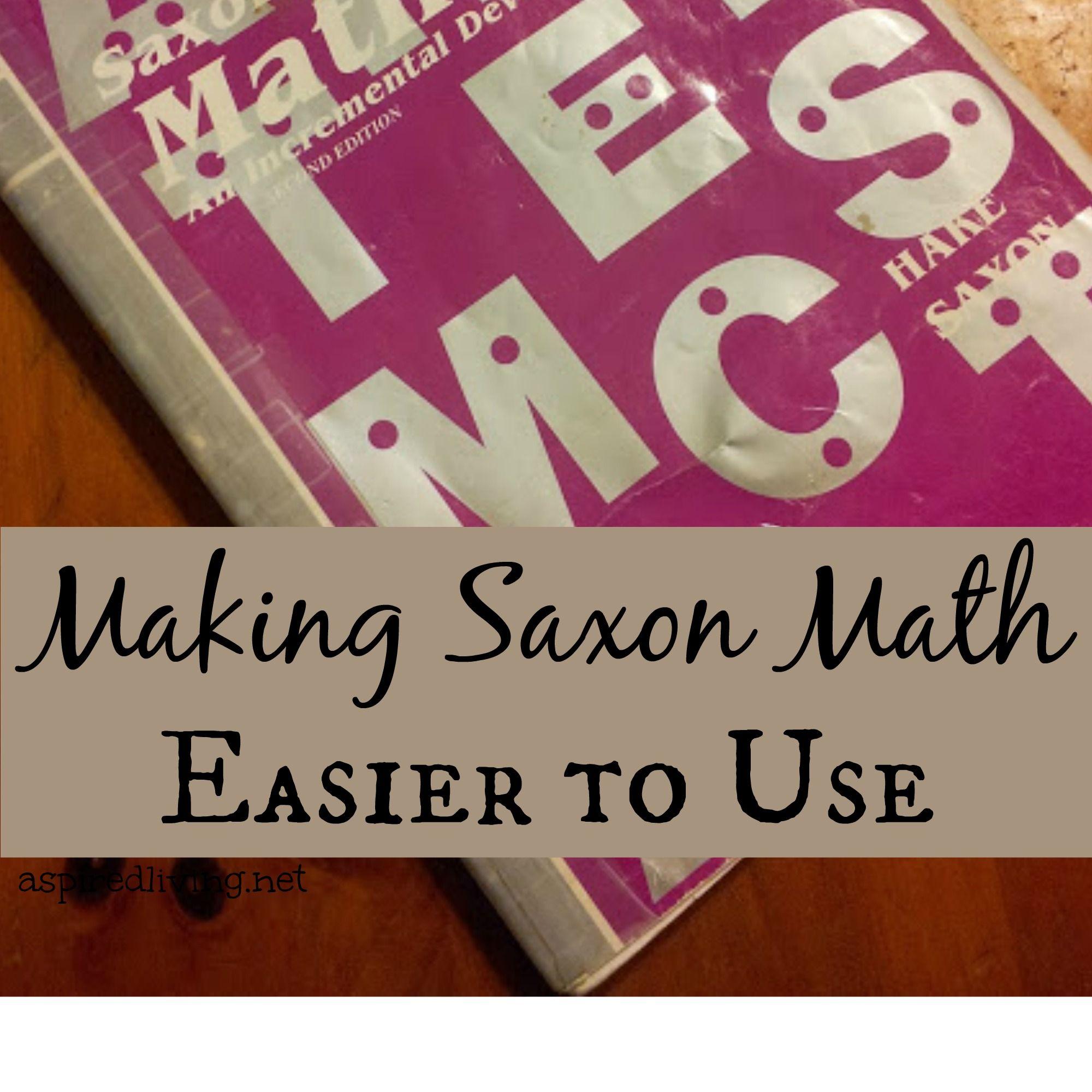 Making Saxon Easier To Use