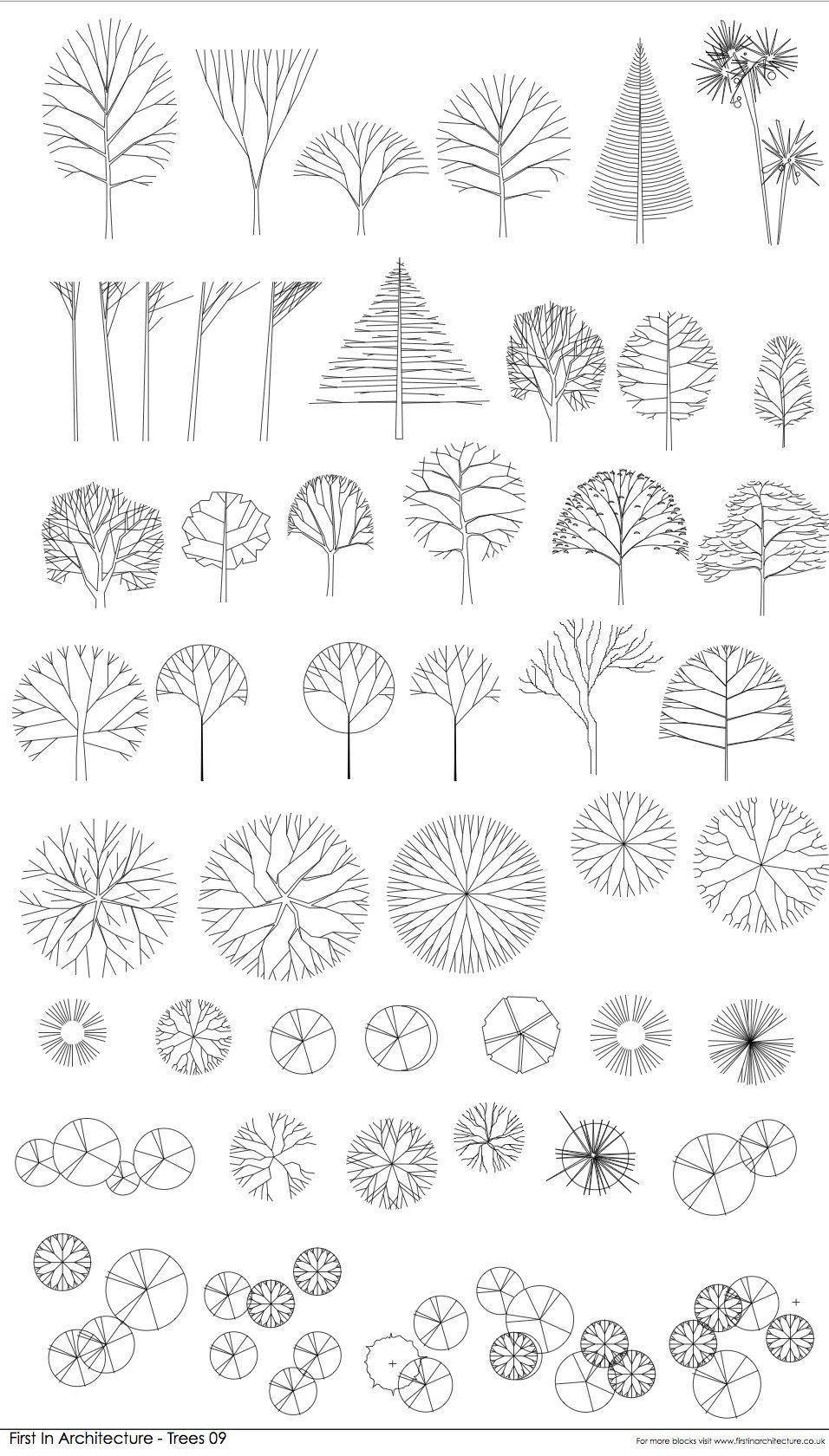 Free CAD Blocks   Trees 09 is part of architecture - Here is another set of free cad blocks from the First In Architecture Cad Block database  I hope you find them useful  Please feel free to download them  My free autocad block library continues to grow  if you have any suggestions for useful content please get in touch  This set of cad blocks includes Trees in plan Linear style trees in elevation Tree Cad Blocks  plan and elevation About First In Architecture Free Cad Blocks Thank you for using First In Architecture block database  These autocad blocks are provided free, for use by anyone  Please do not share or sell the blocks on