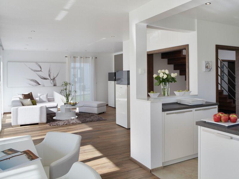 Wohnbereich mit offener Küche | home | Wohnzimmer mit ...