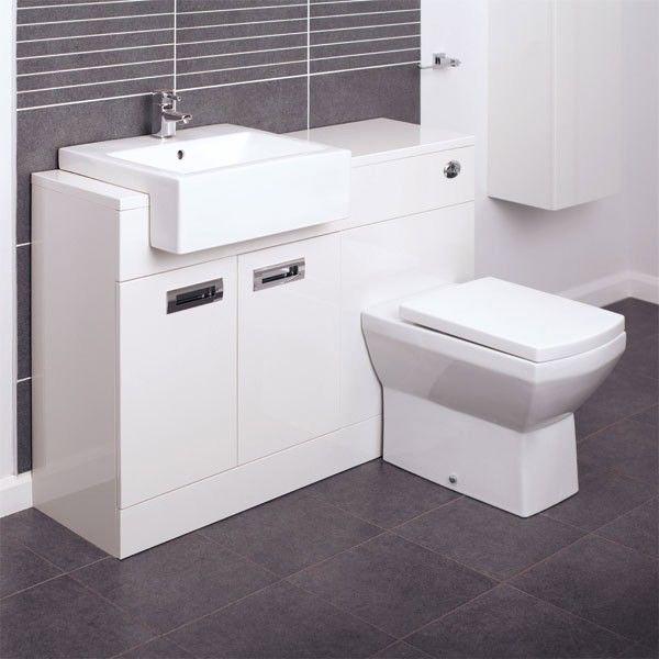Combined Bathroom Vanity Units: Cuba Left Hand Combination Unit