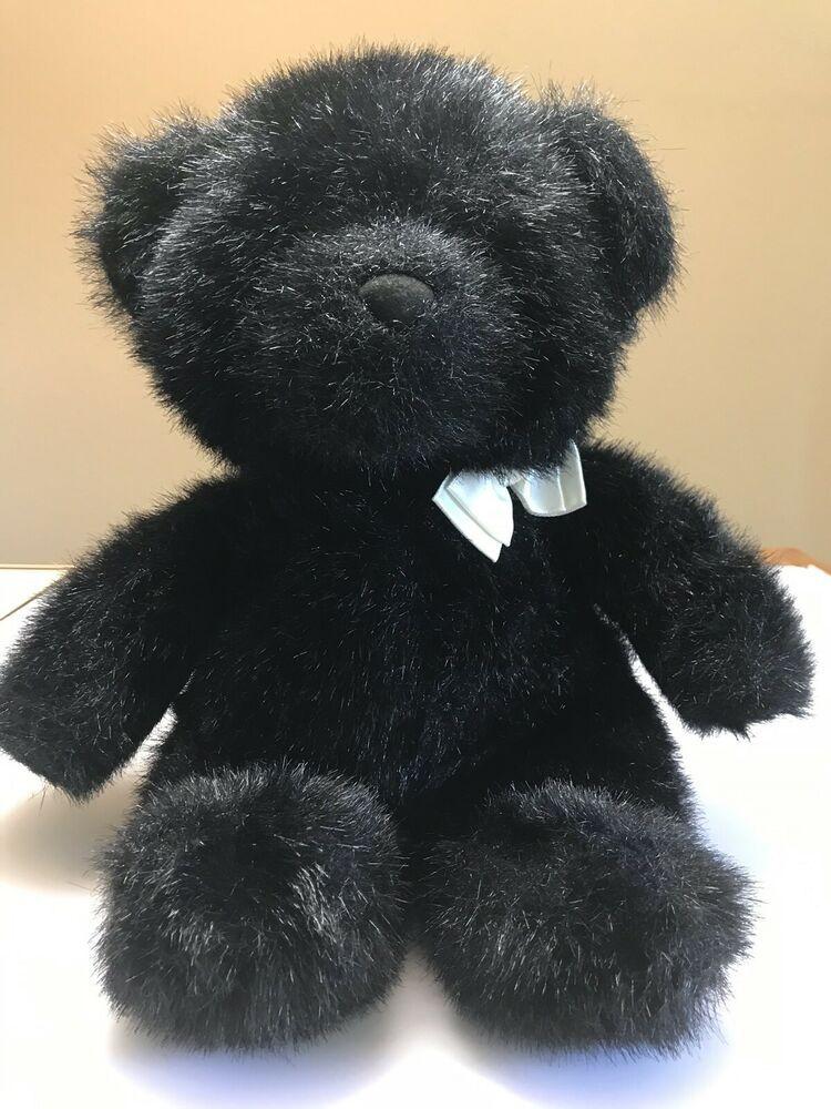 Black Bear Plush Commonwealth Lush Plush Teddy Bear Stuffed Animal