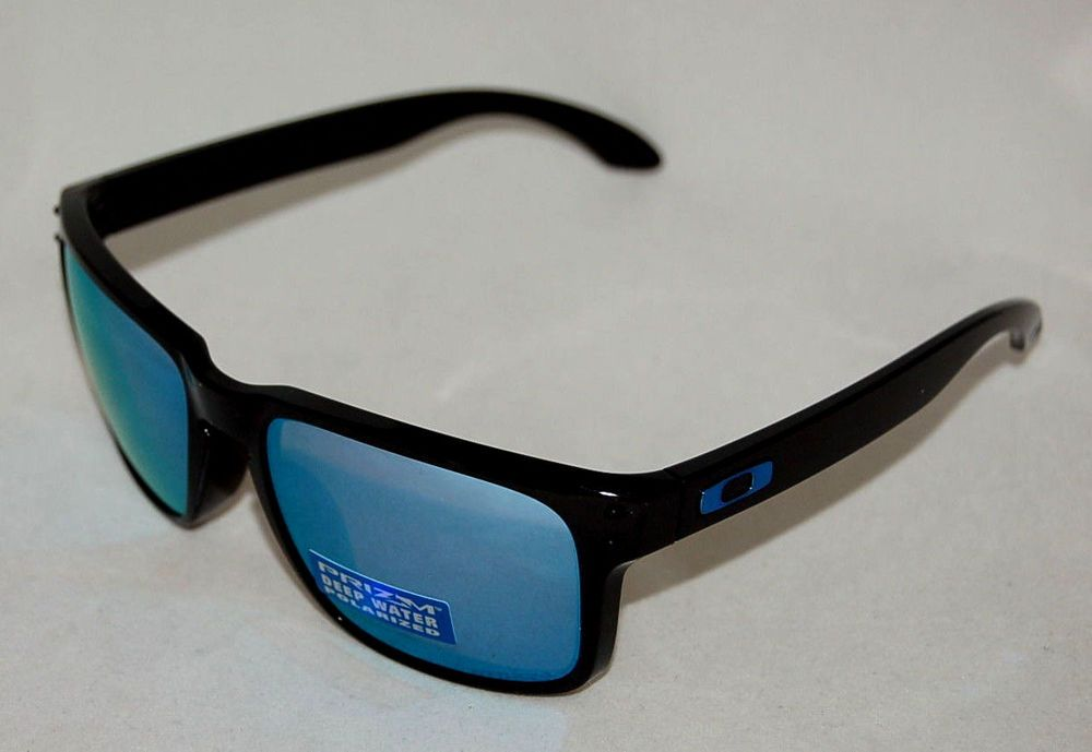 d3e9ad30ac eBay  Sponsored NEW OAKLEY HOLBROOK OO9102-C1 POLISHED BLACK W  PRIZM DEEP  H2O POLARIZED LENS