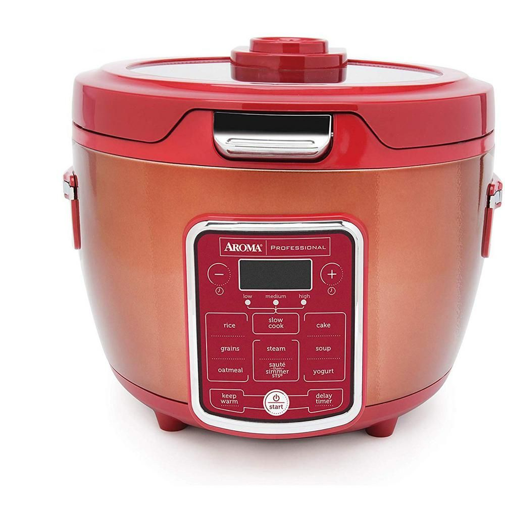 AROMA 20-Cup Red Rice Cooker with Glass Lid   - Products #20Cup #Aroma #Cooker #Glass #Lid #Products #Red #Rice #Spanish #SpanishRice #Rice