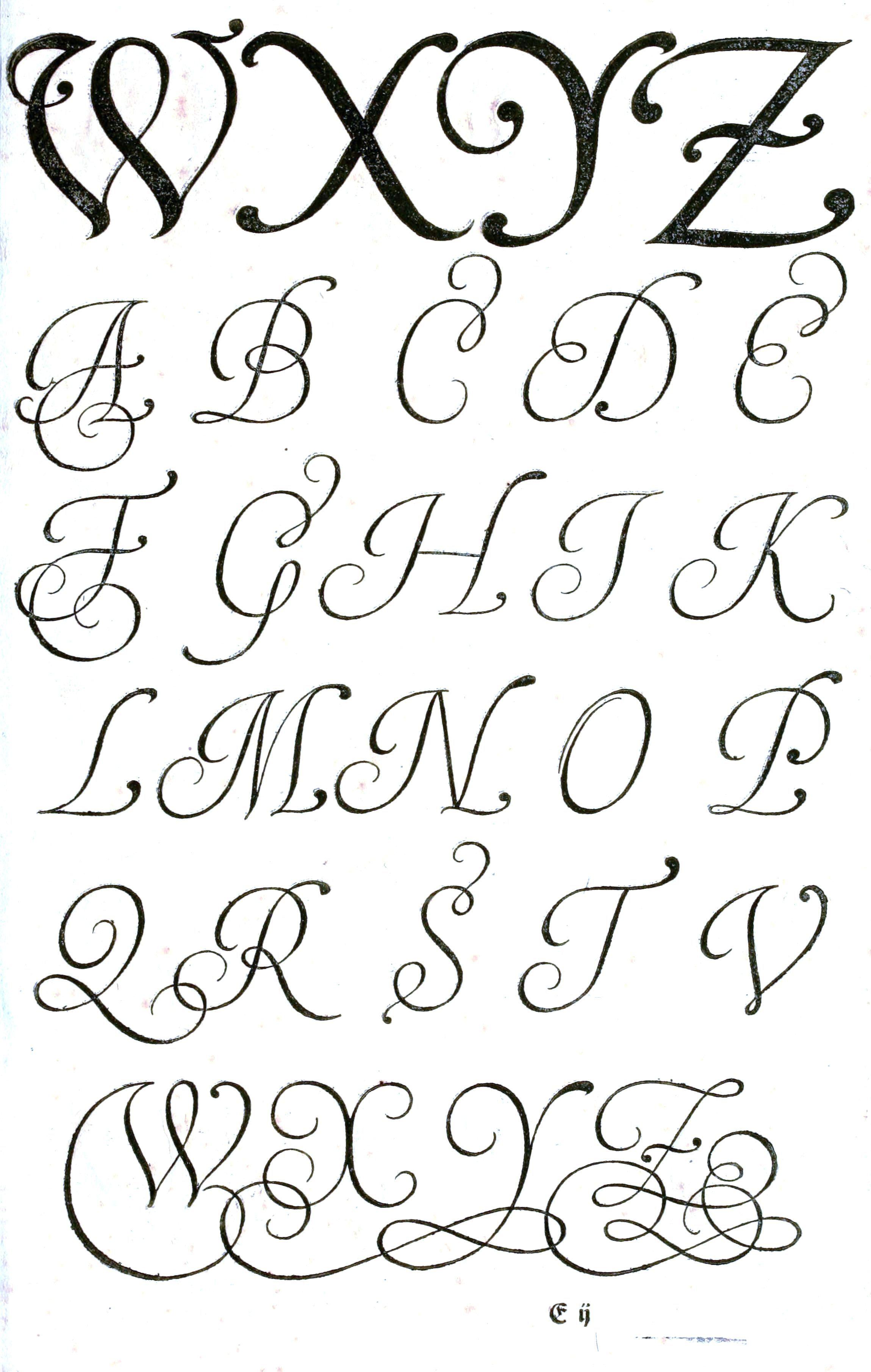 Typography - Alphabet - Old German - (3) #vintageprintable | Fonts ...