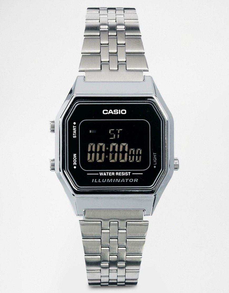 Casio LA680WEA Mini Digital Black Face Watch Black | Black