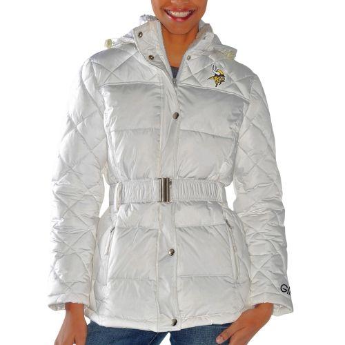 brand new 37060 c1fd8 NFL Minnesota Vikings Women's Icing Full Zip Quilted Jacket ...