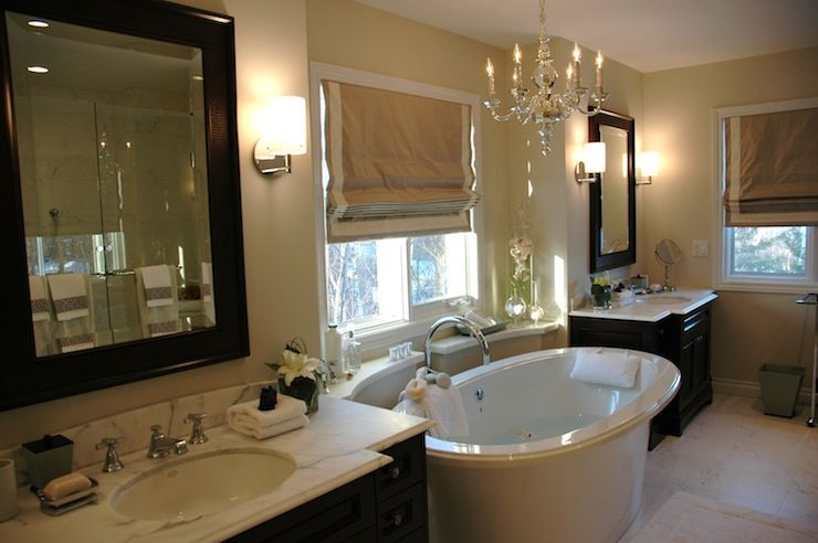 Amazing Master Bathroom With Tan Walls Paint Color Glossy Black Inexpensive Bathroom Remodel Bathroom Remodel Cost Modern Bathroom Remodel