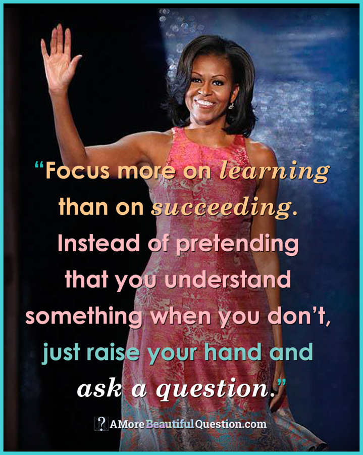 Michelle Obama S Wise Advice To Her Younger Self A More Beautiful Question This Or That Questions Michelle Obama Quotes Wonder Quotes