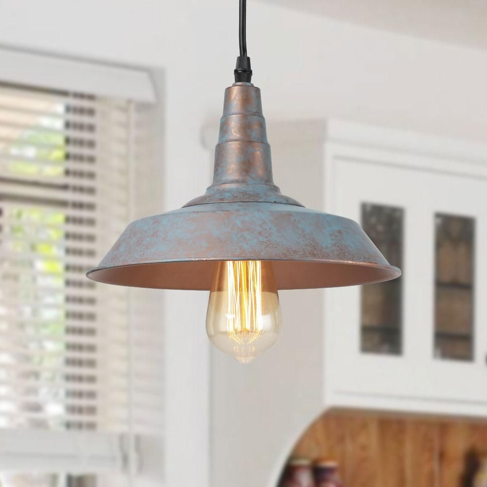 Lnc Pendants Ceiling Lights Vintage Blue Rustic Barn 6 3 H X 10 2