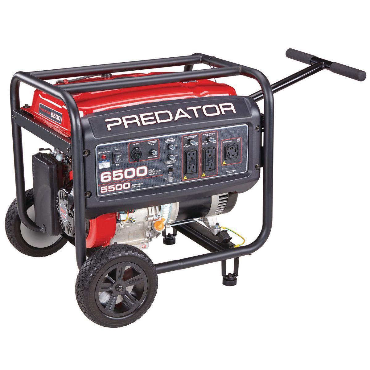 6500 Watt Max Starting Gas Powered Generator EPA III
