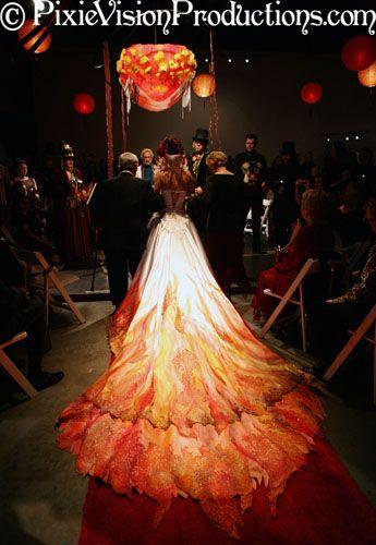 Flame Wedding Dress Www Pixshark Com Images Galleries