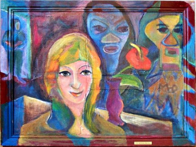Psychic Mystery Oil Painting By Margret Hofheinz Doring 1910 1994 Link 61 You Can Remember Things Which Never Occurred