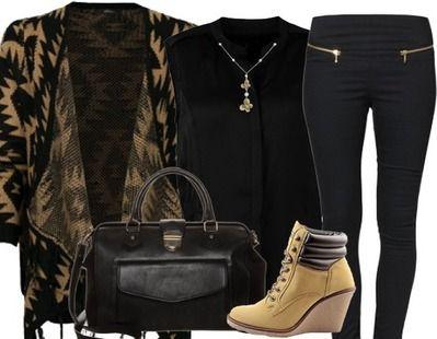 Cette tenue va bien pour les jours froids! Ici pour les détails: http://stylefru.it/s243191 #gilet #bottines