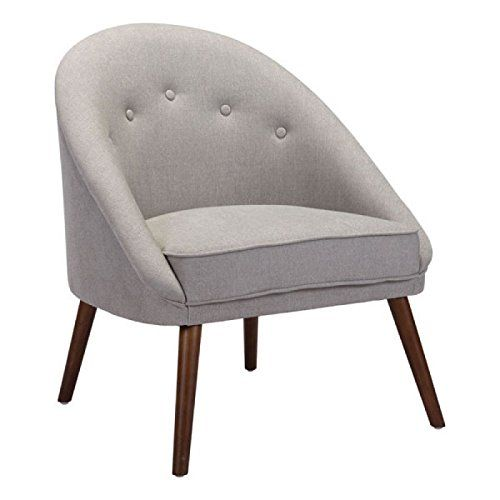 Best Zuo Furnitures Living Room Chairs Comfy Light Gray 400 x 300