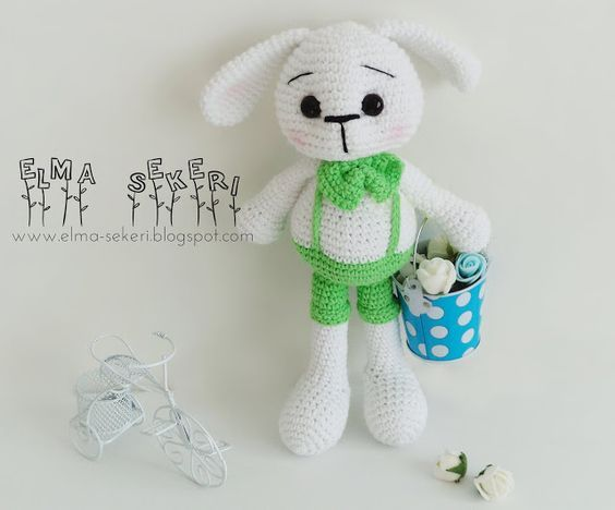 Amigurumi Anahtarlık Tarifi : Amigurumi minnoş tavşan yapılışı ücretsiz tarif free pattern