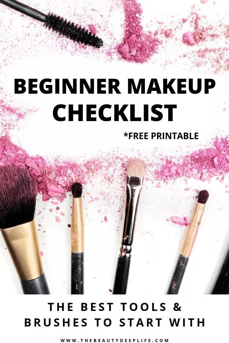 Free Beginner Makeup Kit Checklist in 2020 Makeup for