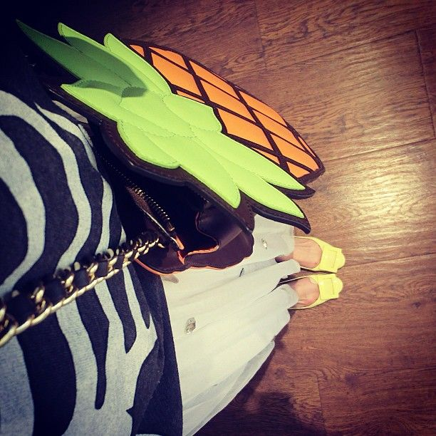 Photo by xhyd  #moschino #mymoschino #pineapple #bag #summer