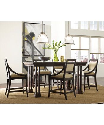 Stanley Furniture » Dining Tables » Portfolio Diningcounter Table Amusing Stanley Dining Room Set Review