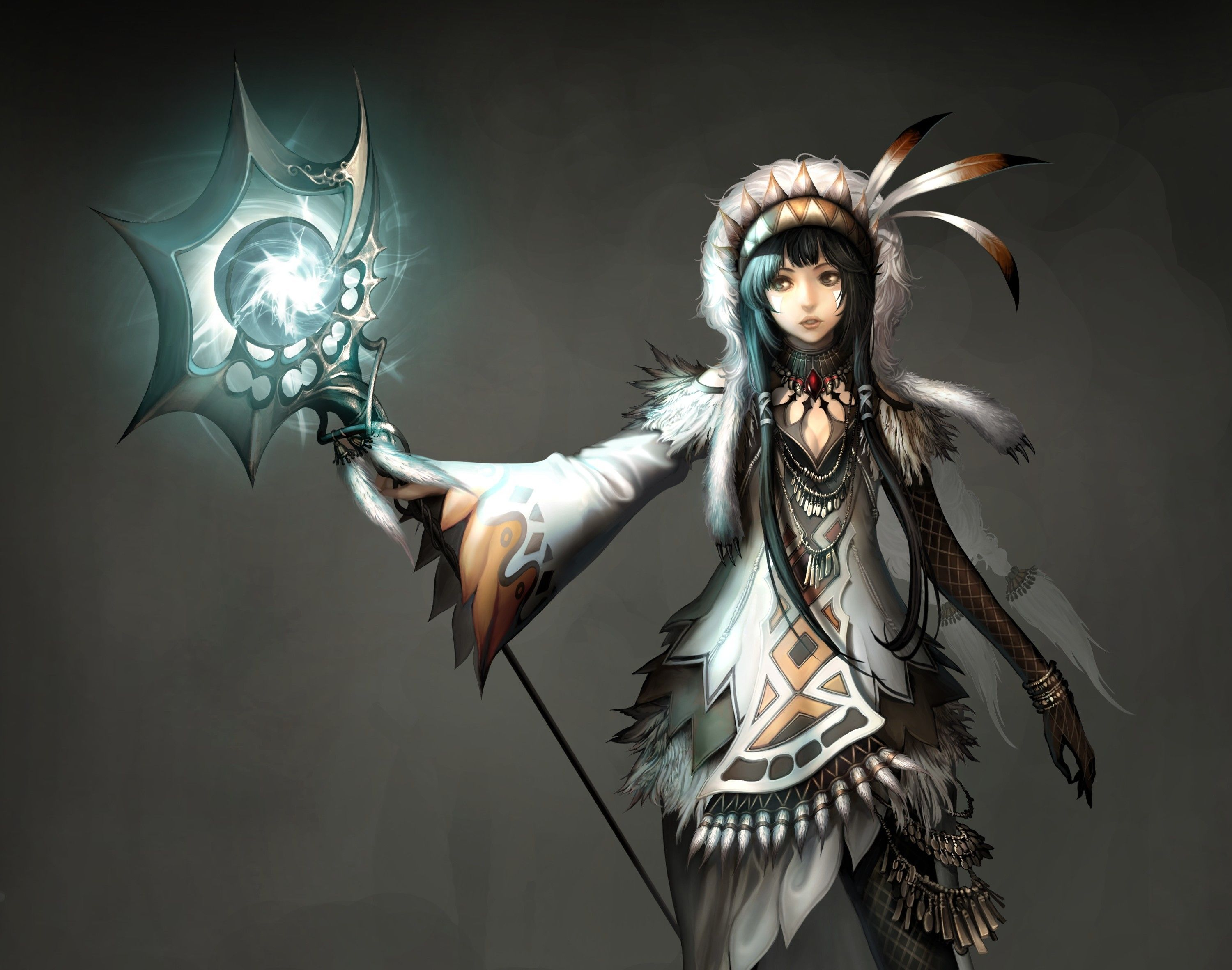 Anime Fire Mage Girl Wallpapers Hd Wallpapers 3000x2363 Px 606 87 Kb Anime Fantasy Warrior Fantasy Characters