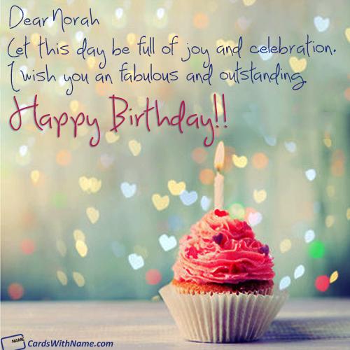 norah card birthday wishes birthday card