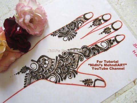 Henna Mehndi S : Arabic simple henna mehndi design art tutorial creation