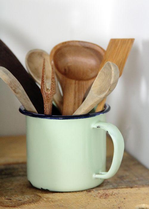 Peque os utensilios de madera utensilios para la cocina - Utensilios de cocina de diseno ...