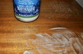 Putzen Mit Mayonnaise Reinigung Holzmöbel Möbel Und Holz