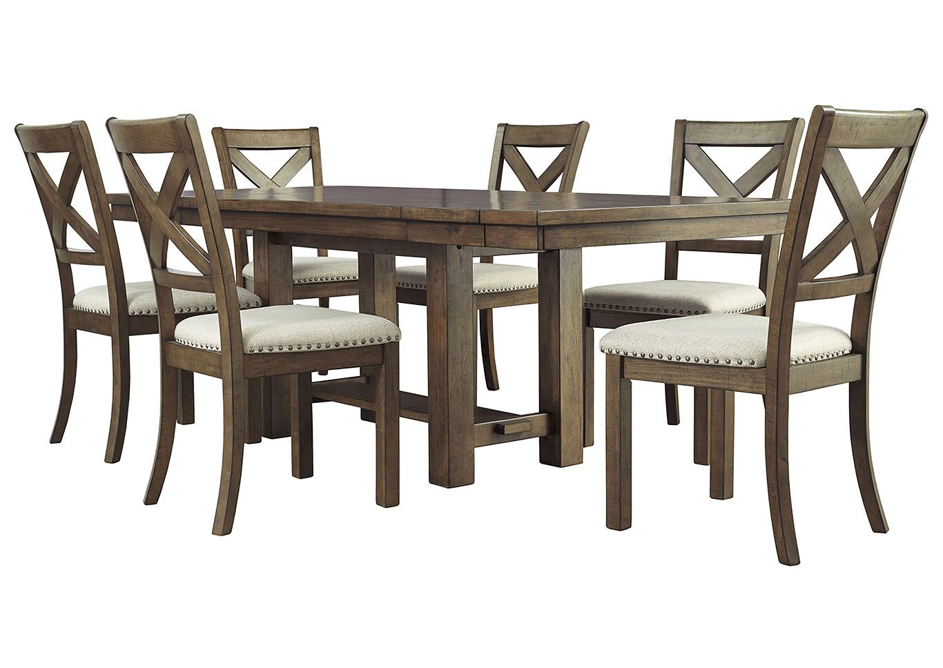 Moriville Dining Room Extension Table Set With Upholstered Side
