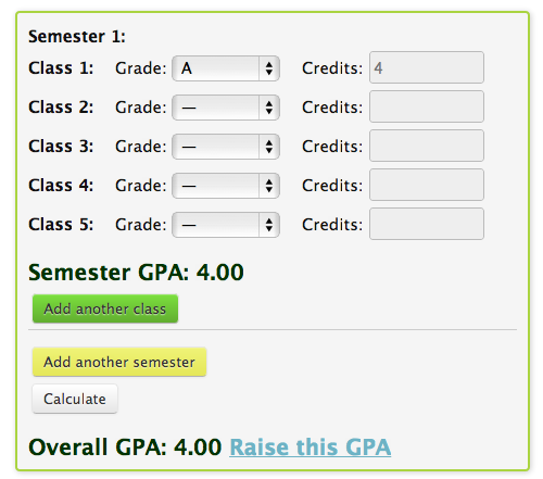 Get A Perfect Grade Point Average Before The End Of The Year