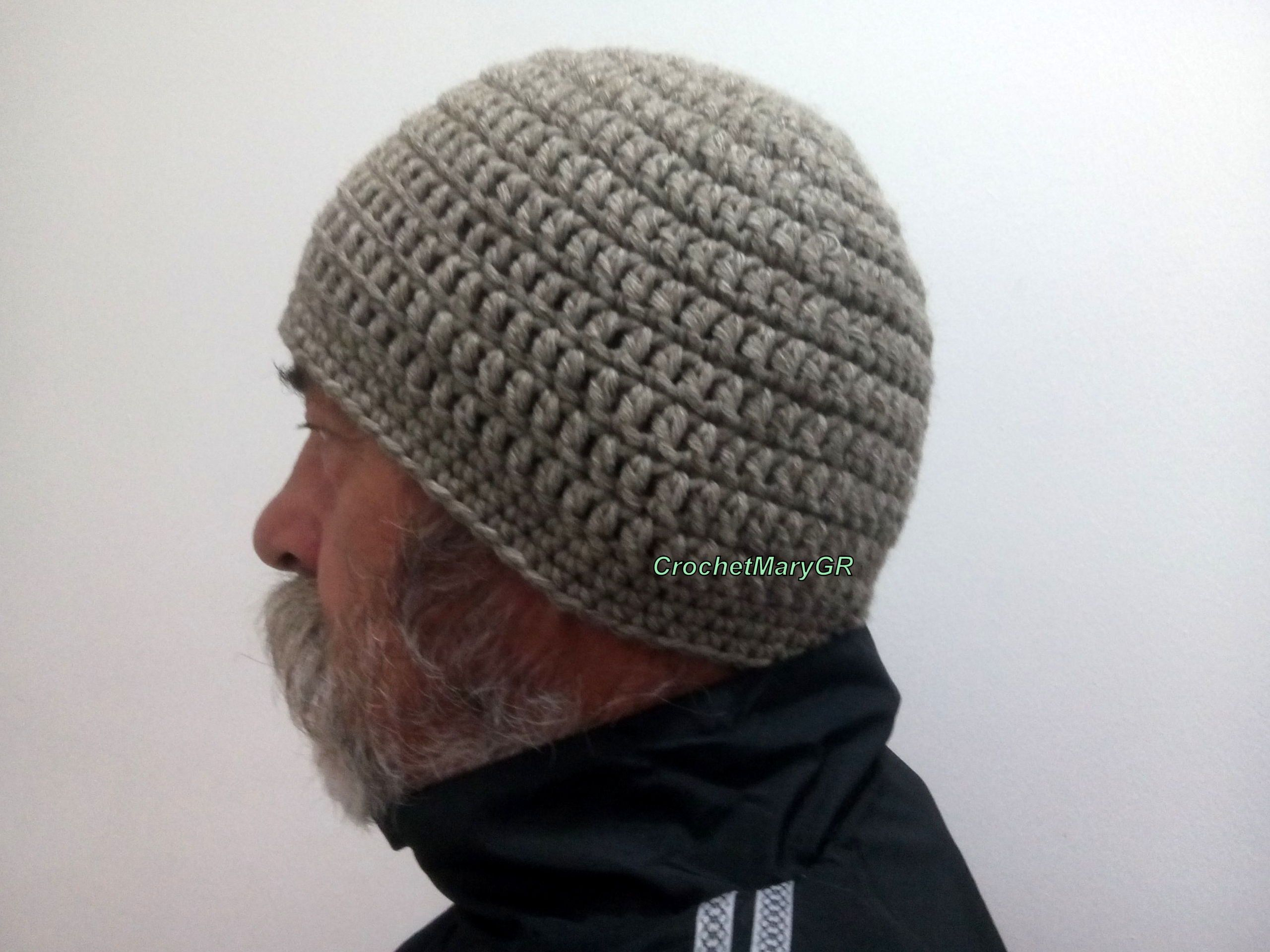 Crochet Hat Men Crochet Hat Beanie man hat wool Crochet Man Skull Cap Father's day gift, Beige hat Wool hat Adult crochet hat, winter hat #menscrochetedhats