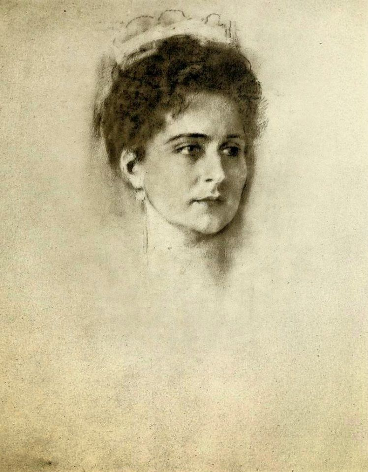 FA Kaulbach Empress Alexandra Feodorovna Study for the painting of Alexandra that hung in her famous Formal Reception Room at the Alexander Palace