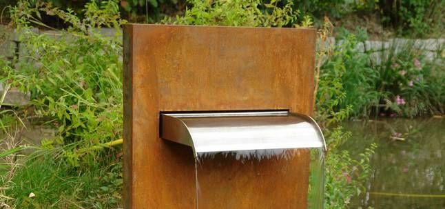 Mekong II   Wasserfall Brunnen Für Den Garten Und Wasserfallbrunnen In  Edelstahl Für Garten Und TeichWasserfallbrunnen