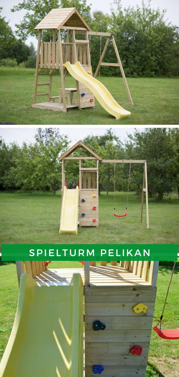 Spielturm Pelikan Spielturm Garten Kinderspielturm Garten Kinder Spielplatz Garten