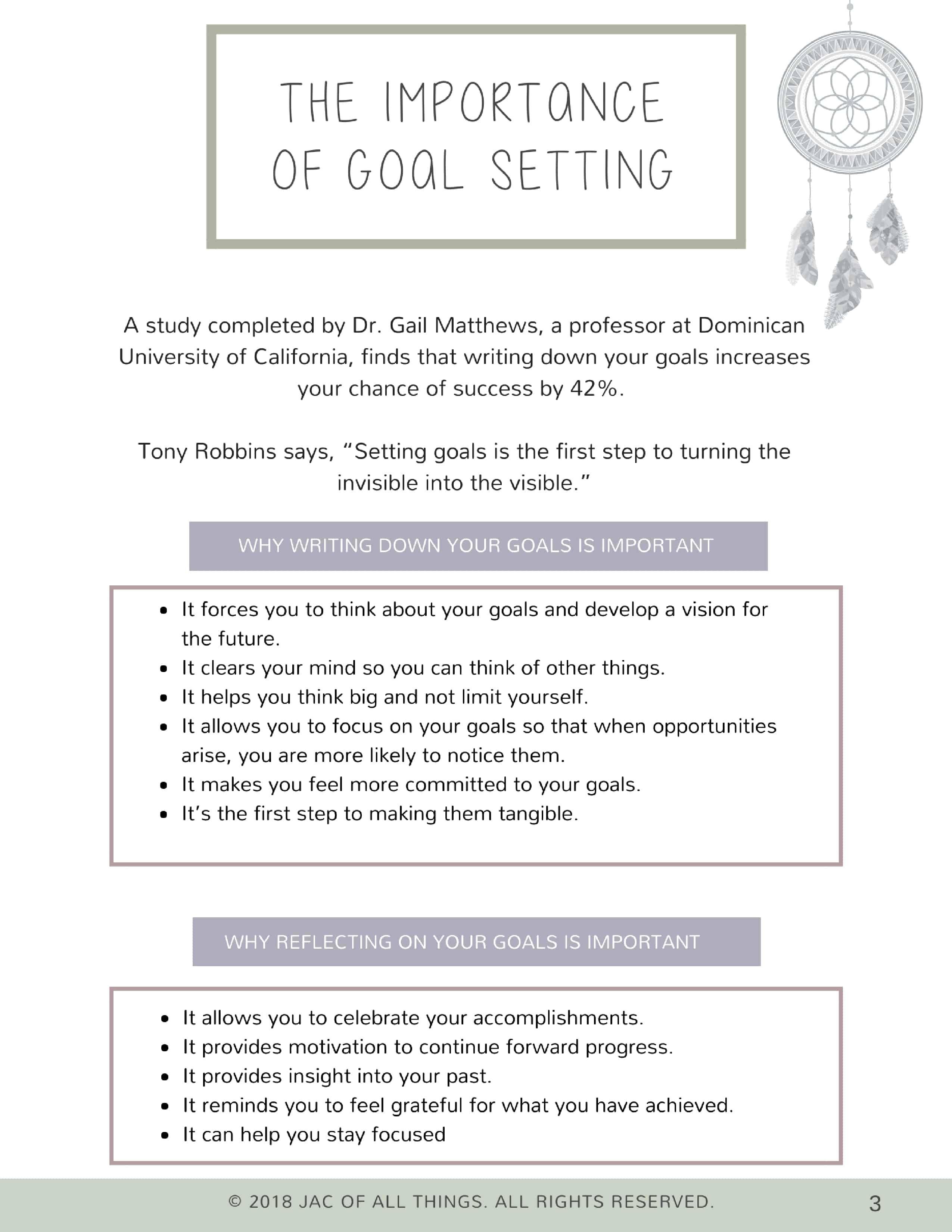 Goal Setting Worksheets