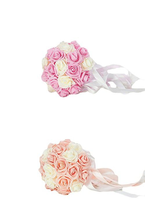 Vivian's Bridal Handmade Wedding Bouquets Artifical for Wedding Blush Pink and Ivory