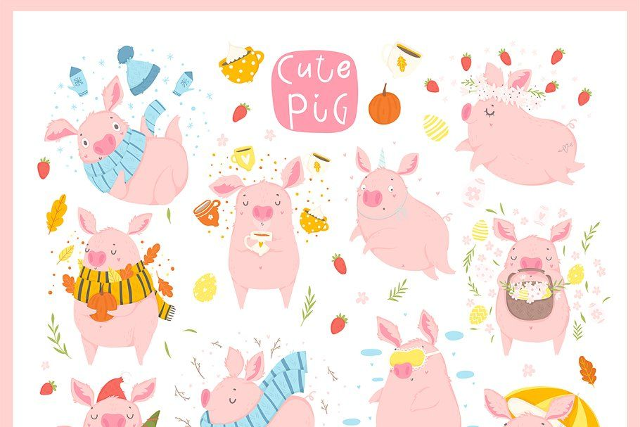 Funny pig calendar 2019 in 2020 Funny pigs, Holiday