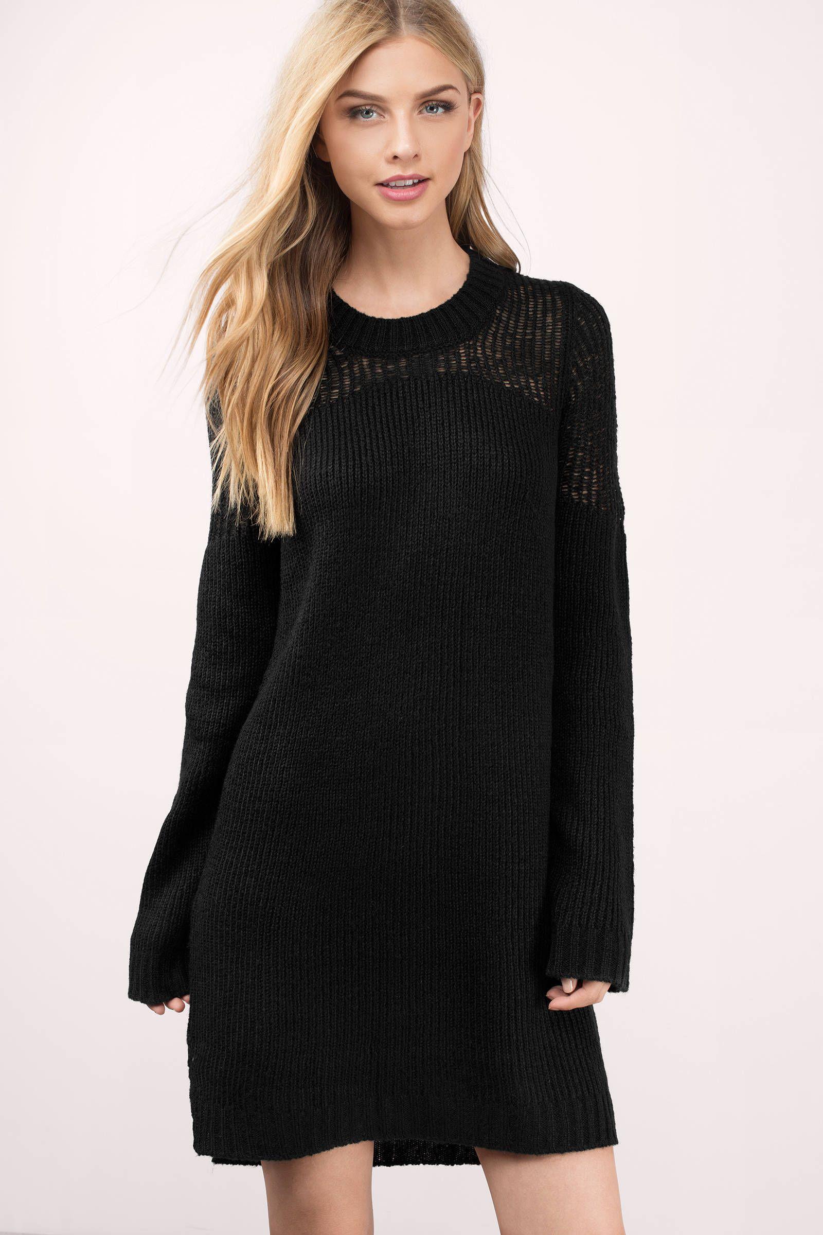 Knit Wit Sweater Dress In Black Cute Black Dress Sweater Dress Black Sweater Dress [ 2400 x 1600 Pixel ]