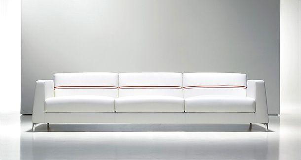 Comfy white couch Calibra White Sofa from Bernhardt Furniture