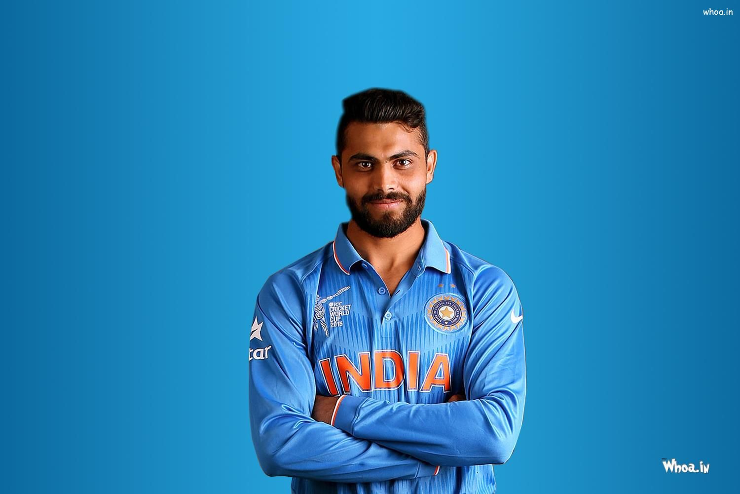 Ravindra Jadeja Hd Images And Wallpapers With Playing Cricket Art