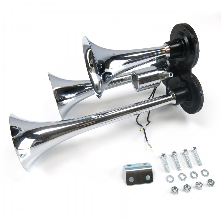 EVAC2 Dual Trumpet Train Horn Kit with Compressor Horns